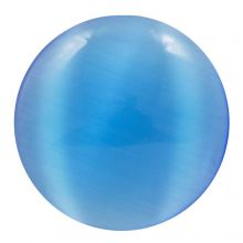 Cabochon Cat Eye (12 mm) Dark Blue (2 pcs)