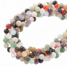 Bead Mix - Gemstone Beads (8 mm) Mix Color (5 Strands)