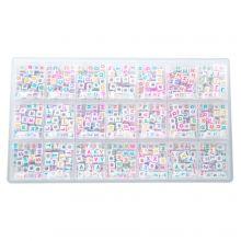 Bead Kit - Letter Beads Consonants (6 x 6 mm) Mix Color (44 beads per letter)