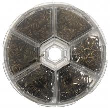 Assortment Box - Jump Rings (6 various sizes) Bronze (1745 pcs)