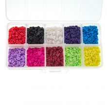 Bead Kit - Polymer Clay Beads (4 x 1 mm) Mix Color (4000 pcs)