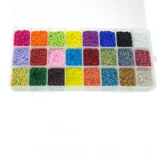 Bead Kit XL - Seed Beads (2 mm / 24 x 23 gram) 'Mix Color'