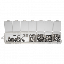 Assortment Box - Stainless Steel Endcaps (1 to 4 mm) Antique Silver (110 pcs)
