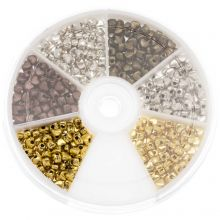 Bead Kit - Metal Beads Hearts (4 x 3 mm) Mix Color (700 pcs)