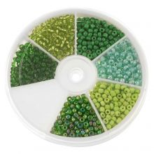 Bead Kit - Seed Beads Green (3 mm) 'Mix Color'