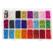 Bed Kit XL - Seed Beads (4 ~ 5 mm / 24 x 250 pieces) 'Mix Color'