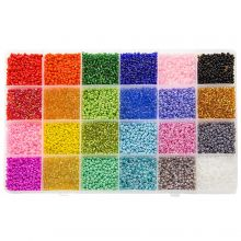 Bead Kit XL - Seed beads (2 mm / 24 x 12 gram) 'Mix Color'