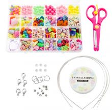 Bead Kit Kids - Acrylic Beads And Tools 'Mix Color'