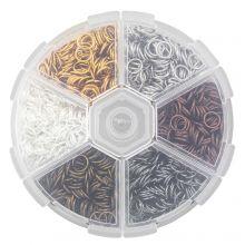 Assortment Box - Jump Rings (4 x 0.8 mm) Mix Color (2400 pcs)