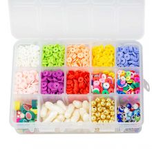 Bead Kit - Acrylic and Polymer Clay Beads (6 - 23 mm) Mix Color (2300 pcs)