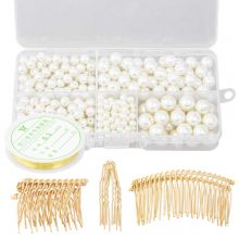 Jewelry Making Kit - Hair Accessories (various sizes) Gold