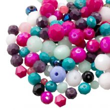 Bead Mix - Faceted Beads (8 - 2 mm) Mix Color (100 Gram)