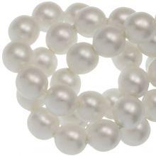 DQ Glass Pearls (6 mm) White Matt (80 pcs)