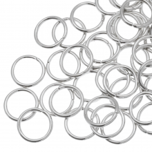 Jump Ring (10 mm) Antique Silver (100 pcs) Thick 1.2 mm
