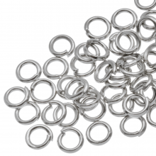 Jump Ring (4 mm) Antique Silver (100 pcs) Thick 0.8 mm