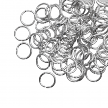 Jump Ring (8 mm) Antique Silver (100 pcs) Thick 1 mm