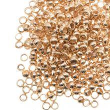 Crimp Beads (hole size 2 mm) Gold (100 pcs)