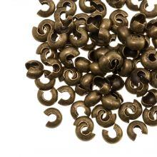 Crimp Bead Covers (5 mm) Bronze (25 pcs)