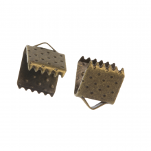 Ribbon End (6mm) Bronze  (20 pcs)