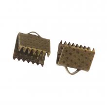 Ribbon End (8 mm) Bronze (20 pcs)