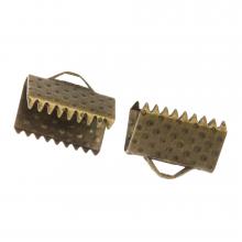 Ribbon End (10 mm) Bronze (20 pcs)