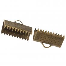 Ribbon End (13 mm) Bronze (100 pcs)
