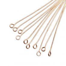 Eye Pins (50 mm) Gold (100 pcs) Thick 0.6 mm