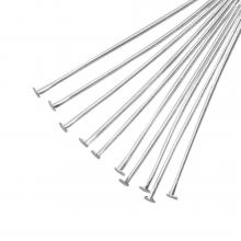 Head Pins (35 mm) Antique Silver (100 pcs) Thick 0.6 mm