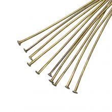 Head Pins (50 mm) Bronze (100 pcs) Thick 0.6 mm