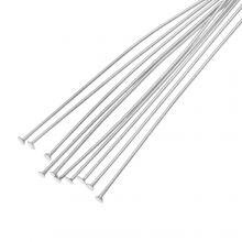 Stainless Steel Head Pins (50 mm) Antique Silver (100 pcs) Thick 0.7 mm