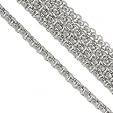 Stainless Steel Rolo Chain (4 x 4 mm) Antique Silver (2.5 Meter)