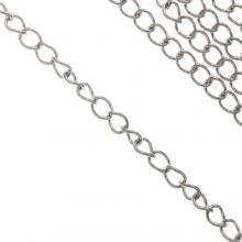 Stainless Steel Rolo Chain (3 x 1.5 mm) Antique Silver (10 Meter)