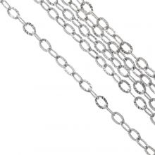 Stainless Steel Rolo Chain (3.5 x 2.5 x 0.4 mm) Antique Silver (10 Meter)
