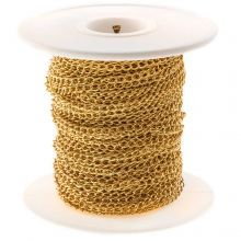Stainless Steel Rolo Chain (3.5 x 2.5 mm) Gold (20 Meter)