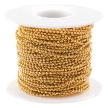 Stainless Steel Ball Chain (1.5 mm) Gold (20 Meter)