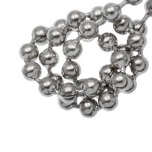 Stainless Steel Ball Chain (2.4 mm) Antique Silver (1 Meter)