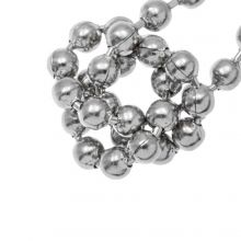 Stainless Steel Ball Chain (3 mm) Antique Silver (1 Meter)
