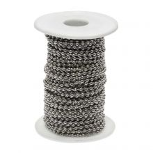 Stainless Steel Ball Chain (3 mm) Antique Silver (20 Meter)