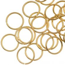 Stainless Steel Jump Rings (8 mm) Gold (50 pcs)  Thickness 0.8 mm