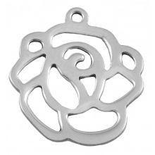 Stainless Steel Charm (14 x 12 mm) Antique Silver (25 pcs)