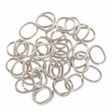 Stainless Steel Jump Rings  (13 x 11 mm) Antique Silver (50 pcs) Thickness 1.5 mm