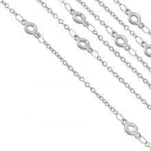 Stainless Steel Rolo Chain Circle (9 x 4.5 x 1.4 mm) Antique Silver (2.5 Meter)