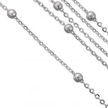 Stainless Steel Rolo Chain Ball (2 x 1.5 mm) Antique Silver (2.5 Meter)