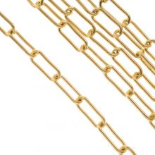 Stainless Steel Rolo Chain (17 x 7 mm) Gold (2.5 Meter)
