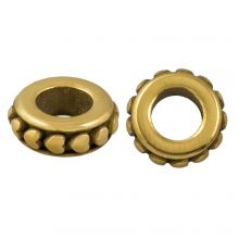 Stainless Steel Beads Large Hole (10 x 8 mm) Antique Gold (1 pcs)