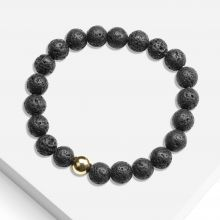 Bracelet With Natural Stone Beads (8 mm) Lava (1 piece)
