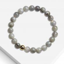 Bracelet With Natural Stone Beads (8 mm) Labradorite (1 piece)