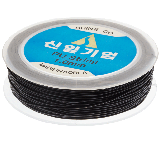 Top Quality Elastic Thread (1 mm) Black (25 Meter)