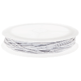 Elastic Thread (0.6 mm) White (19 Meter)