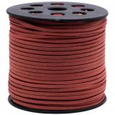 Faux Suede Cord (3 mm) Rusty Red (90 Meter)